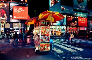 HOT DOG IN TIMES SQUARE NEW YORK