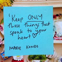 MARIE KONDO quotation