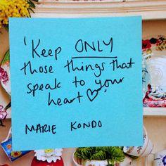 MARIE KONDO quotation