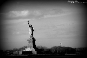 LADY LIBERTY IN BLACK AND WHITE