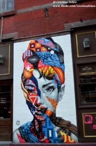 NEW YORK AUDREY HEPBURN STREET ART