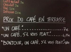 bonjour un café s'il vous plait