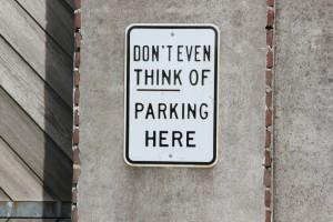non trovare parcheggio